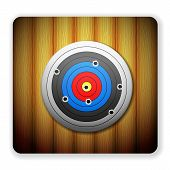 Wooden Target Icon
