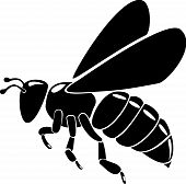 black bee silhouette