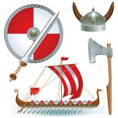 picture of viking ship  - armament Vikings - JPG