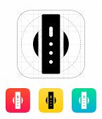 Round smart watch back view icon.