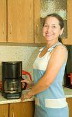 Woman  With Coffee Machine