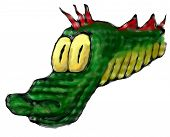 image of dragon head  - Green dragon - JPG