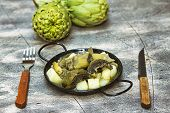Stew Of Artichokes With Potatoes