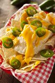 pic of jalapeno  - Homemade Nachos with Cheddar Cheese and Jalapenos - JPG