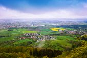 Picturesque view of small town from Hohenzollern