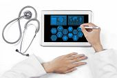Medical Doctor Hands With Tablet