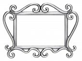 Silver Swirl Wedding Picture Frame