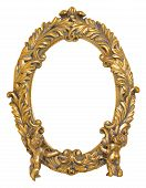 Oval Picture Frame with Cherubs