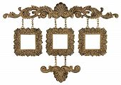 Trio hanging picture frames