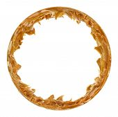 Peanut Butter Round Picture Frame