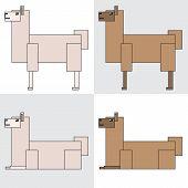 symbol icon rectangle animal llama