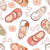 Baby girl shoes pattern