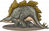 picture of giant lizard  - Vector illustration of a dinosaur  - JPG