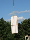 Crane Moving Modular Wall
