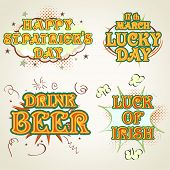 Typography collection for St. Patrick's Day celebrations.