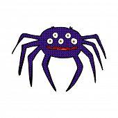 retro comic book style cartoon halloween spider