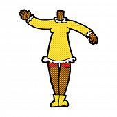 retro comic book style cartoon female body