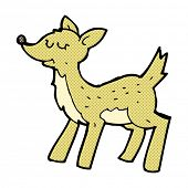 cute retro comic book style cartoon deer
