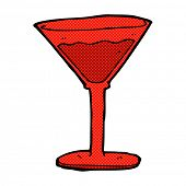 retro comic book style cartoon cocktail