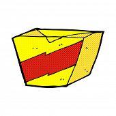 retro comic book style cartoon noodle box