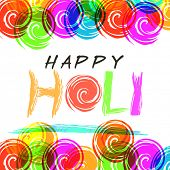 Beautiful greeting card design decorated with creative text Happy Holi, for Indian festival of colors celebration.