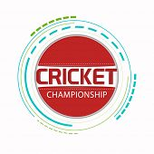 picture of cricket ball  - Sticker - JPG