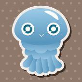 picture of jellyfish  - Sea Animal Jellyfish Cartoon Theme Elements - JPG
