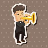 image of trumpets  - Character Musician Trumpeter Theme Elements - JPG