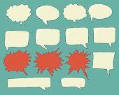 stock photo of bubbles  - Speech bubbles voice bubble set vector hand drawing talk box - JPG