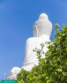stock photo of budha  - Big budha and blue sky for design or decorate project at Phuket Thailand - JPG