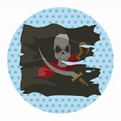 picture of pirate flag  - Pirate Flags Theme Elements Vector - JPG
