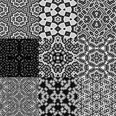 foto of kaleidoscope  - Set of cubes kaleidoscopic seamless generated textures - JPG