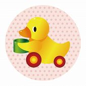 image of baby duck  - Baby Toy Duck Theme Elements - JPG
