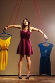 image of addict  - Shopaholic fashion addiction concept - JPG