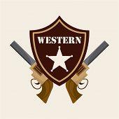 stock photo of sherif  - western banner design - JPG