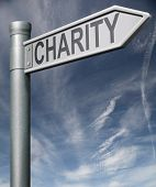pic of generous  - charity road sign clipping path raise money to help donate gifts fundraising give a generous donation or help with the fundraise - JPG