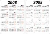 Card Calendars Of 2008
