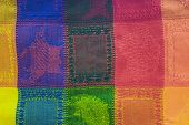 Background Colorful Textured Blanket
