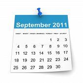 Calendar 2011 - September