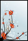 Abstract Vector Spring Floral Background