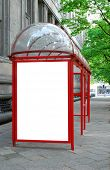 picture of bus-shelter  - Bus shelter with space for advertising - JPG
