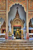 Buddha statue in a Thai temple building