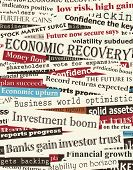 Background editable vector design of newspaper headlines about economic recovery