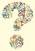picture of question-mark  - Editable vector question mark formed from many question marks - JPG