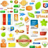 Vector great collection of sale elements.