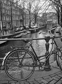 Old Bicycle In Amsterdam, Netherlands