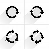 Black Arrow Loop, Refresh, Reload, Rotation Icon poster