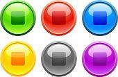 6 botones de alta precisión. Parada.  Ilustración del vector.