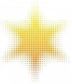 Постер, плакат: Оранжевый полутонов солнце Векторные иллюстрации