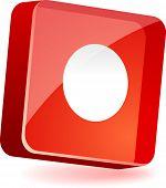 REC icono 3d. Ilustración del vector.
